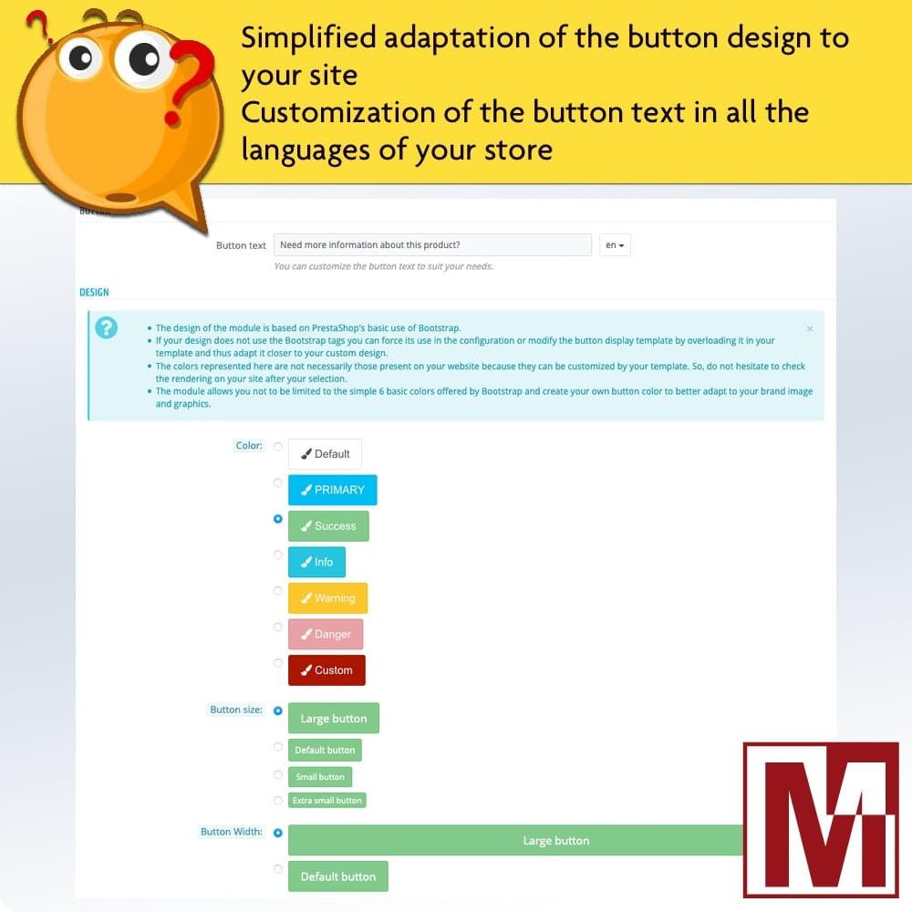 module - Formulário de contato & Pesquisas - Dynamic contact form on product page - 5