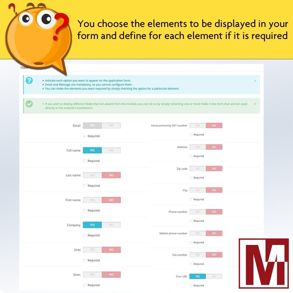 module - Formulário de contato & Pesquisas - Dynamic contact form on product page - 7