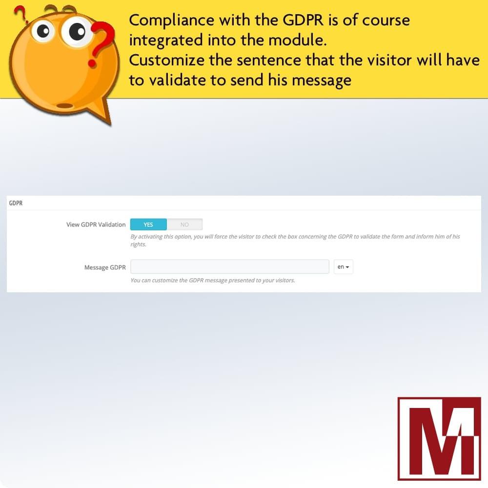 module - Formulário de contato & Pesquisas - Dynamic contact form on product page - 11