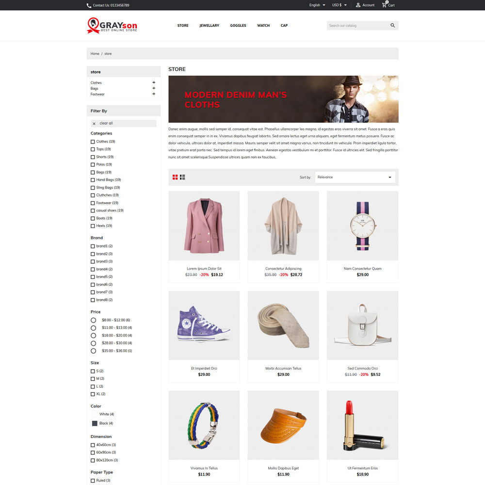 theme - Fashion & Shoes - Grayson Minimal Store - 2