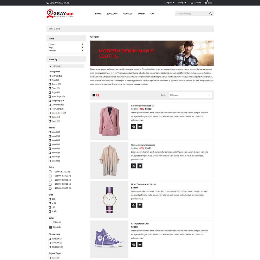 theme - Fashion & Shoes - Grayson Minimal Store - 3