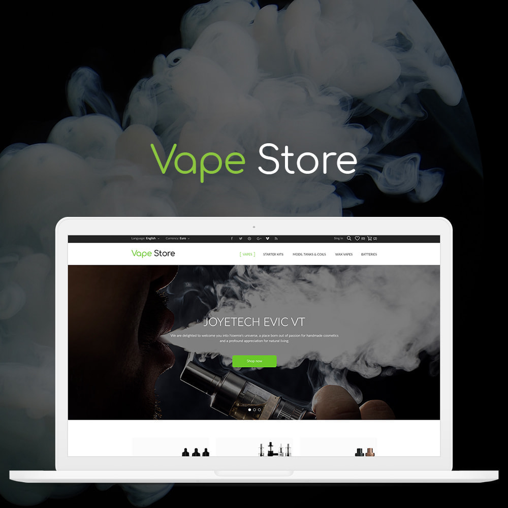 theme - Elektronika & High Tech - Vape store - 1