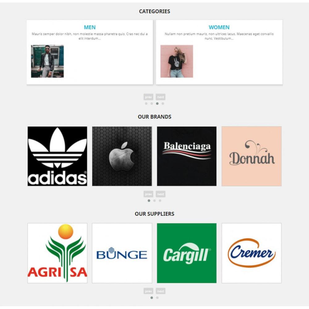 module - Sliders y Galerías de imágenes - Carousels Pack - Instagram, Products, Brands, Supplier - 3