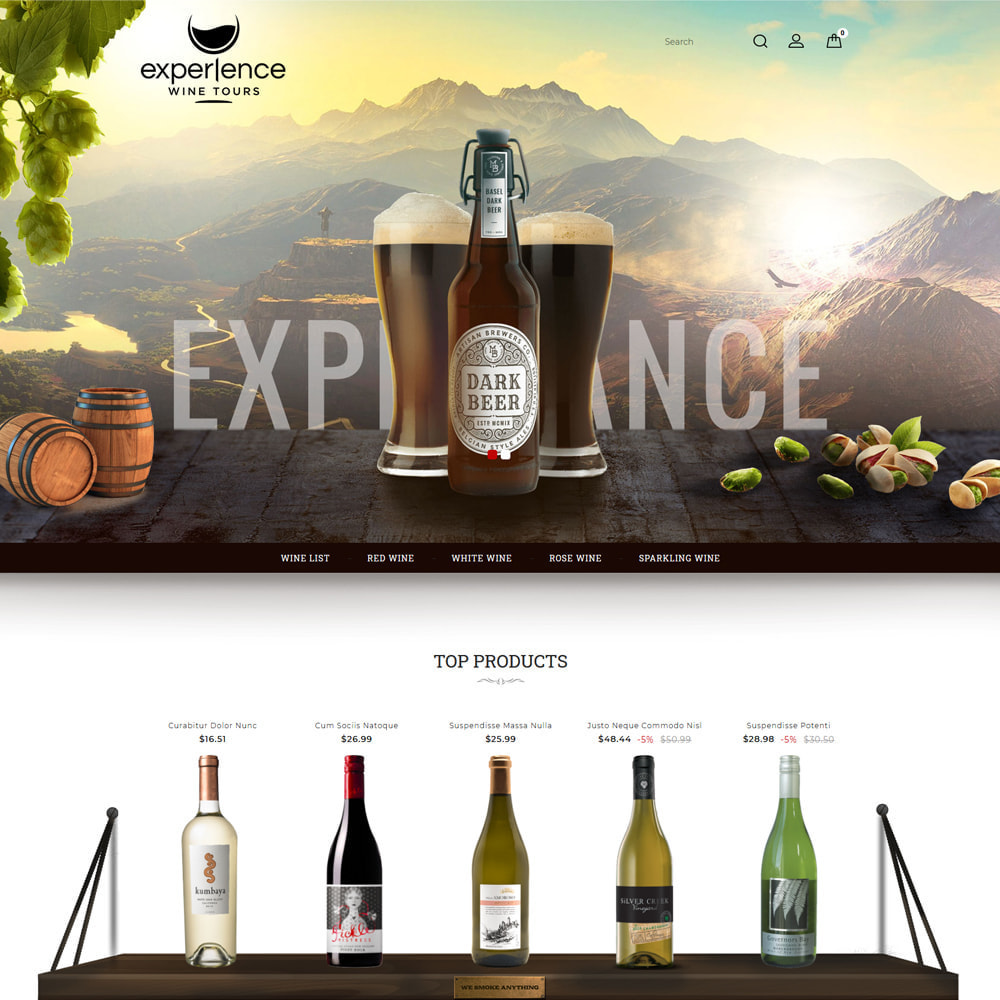 theme - Напитки и с сигареты - Experlence - Wine & Drink Store - 2