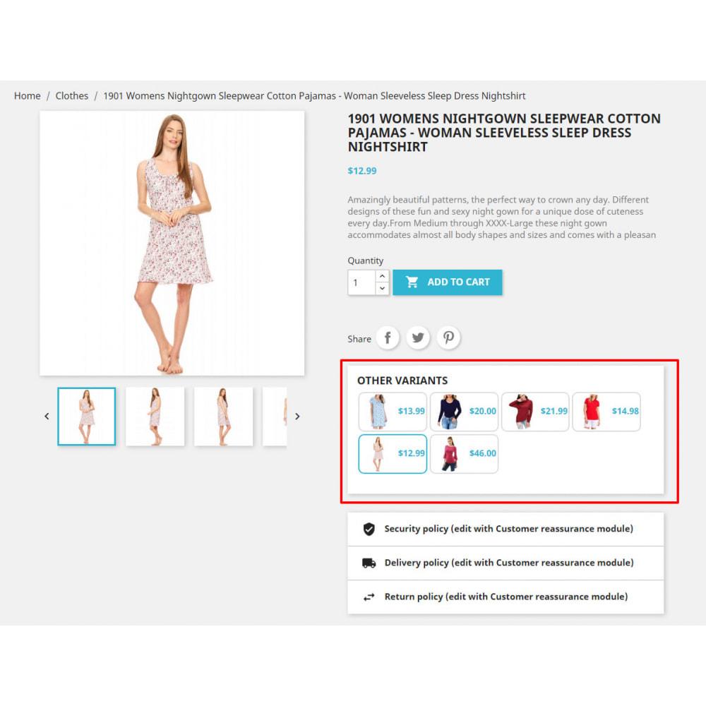 module - Ventas cruzadas y Packs de productos - Custom Product Variants - 1