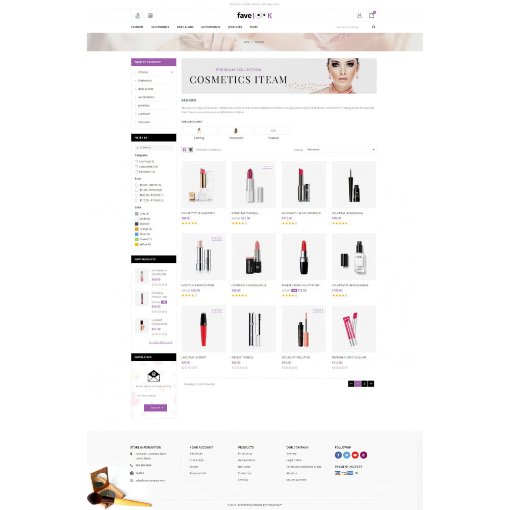 theme - Santé & Beauté - Favelook - Beauty Store - 3