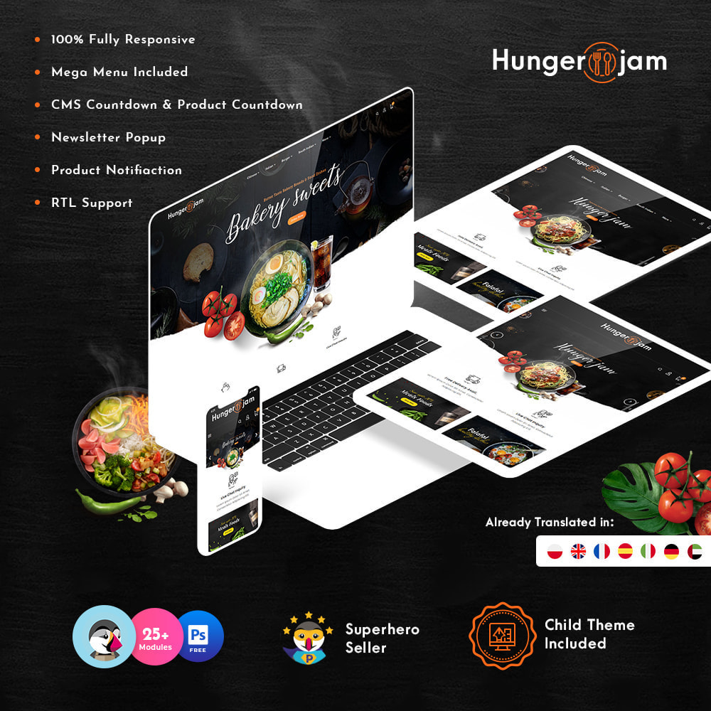 theme - Gastronomía y Restauración - Hunger Jam - Food & Dishes - 1