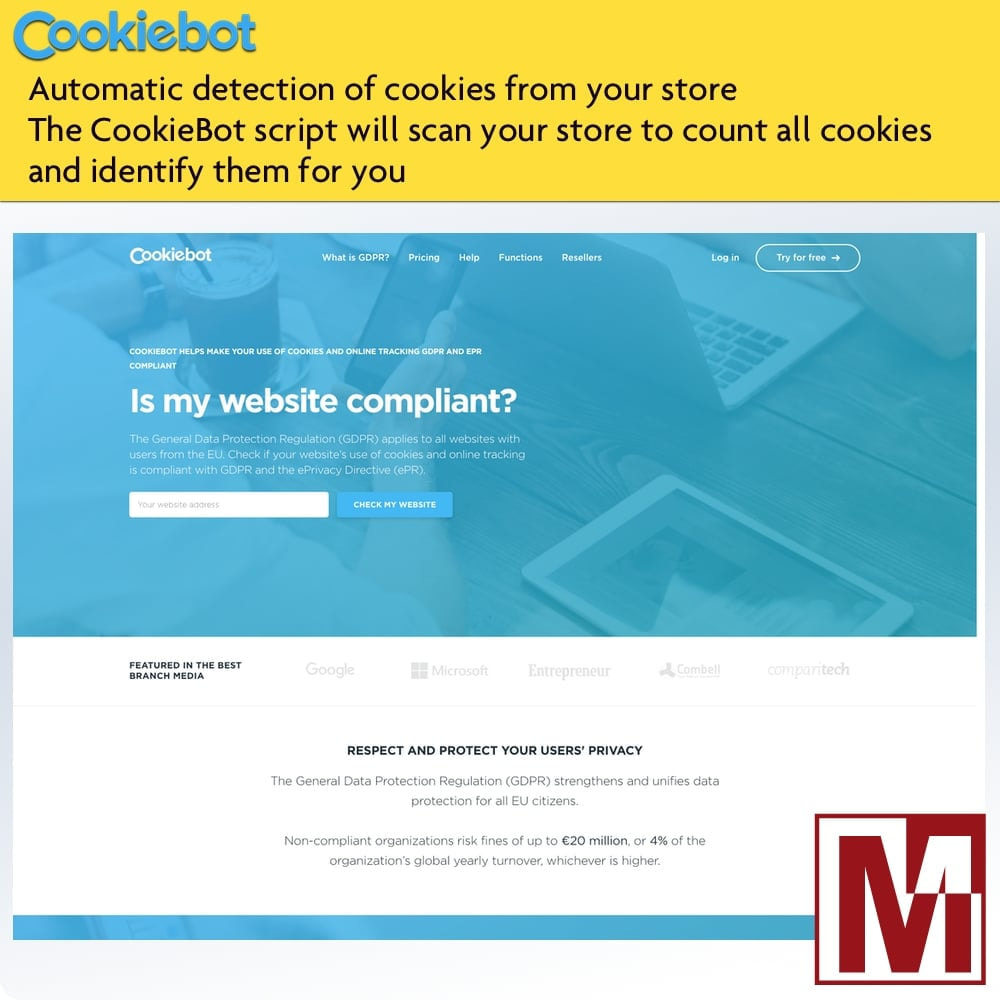 module - Marco Legal (Ley Europea) - Cookiebot - Monitoring and control of cookies - 3