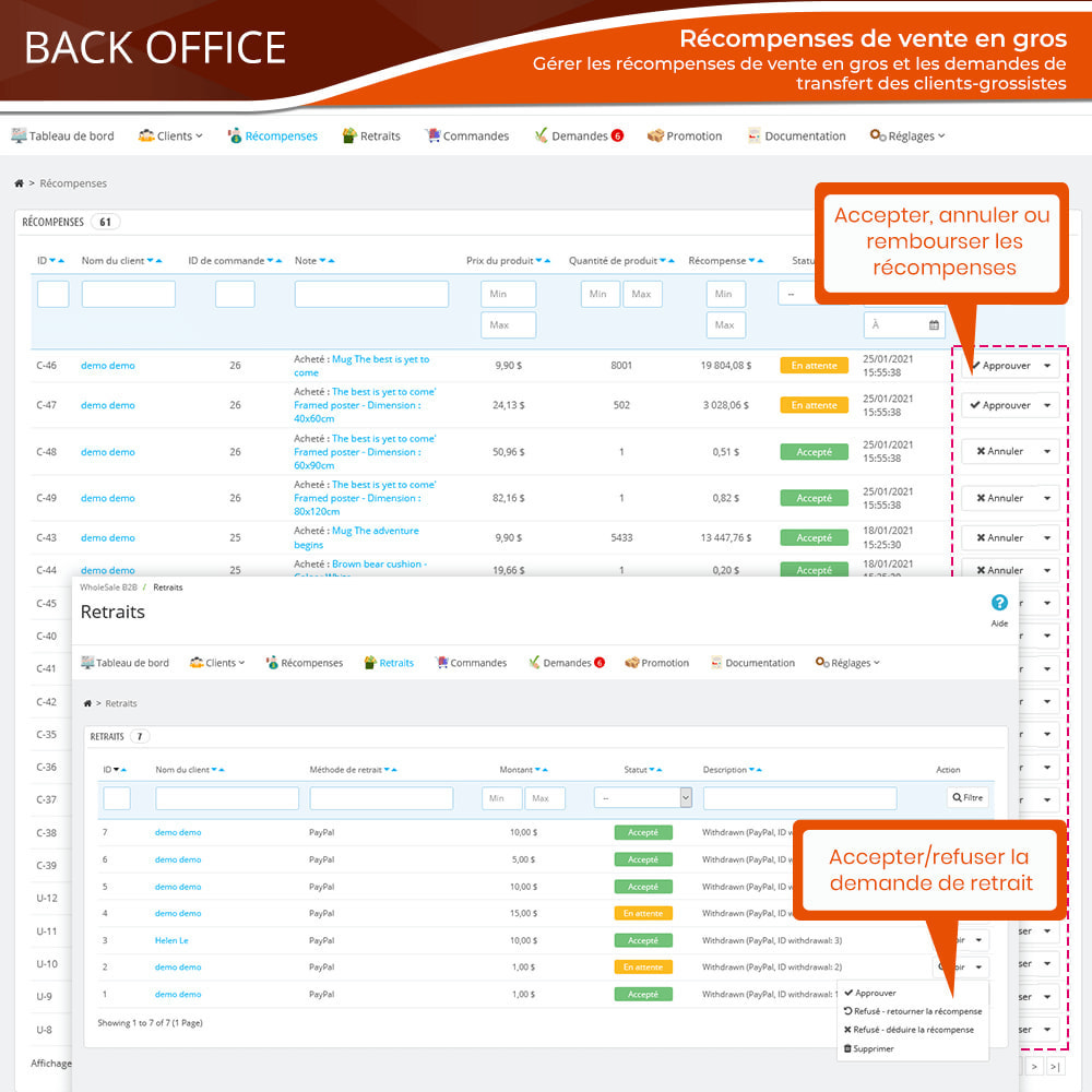 module - Ventes Flash & Ventes Privées - Wholesale B2B - Plateforme de vente en gros experte - 16