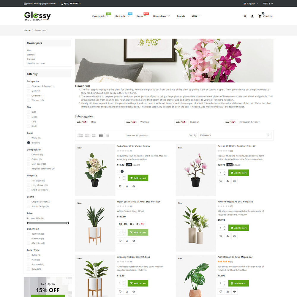 theme - Maison & Jardin - Glossy Nursery Plant & Tools - 9