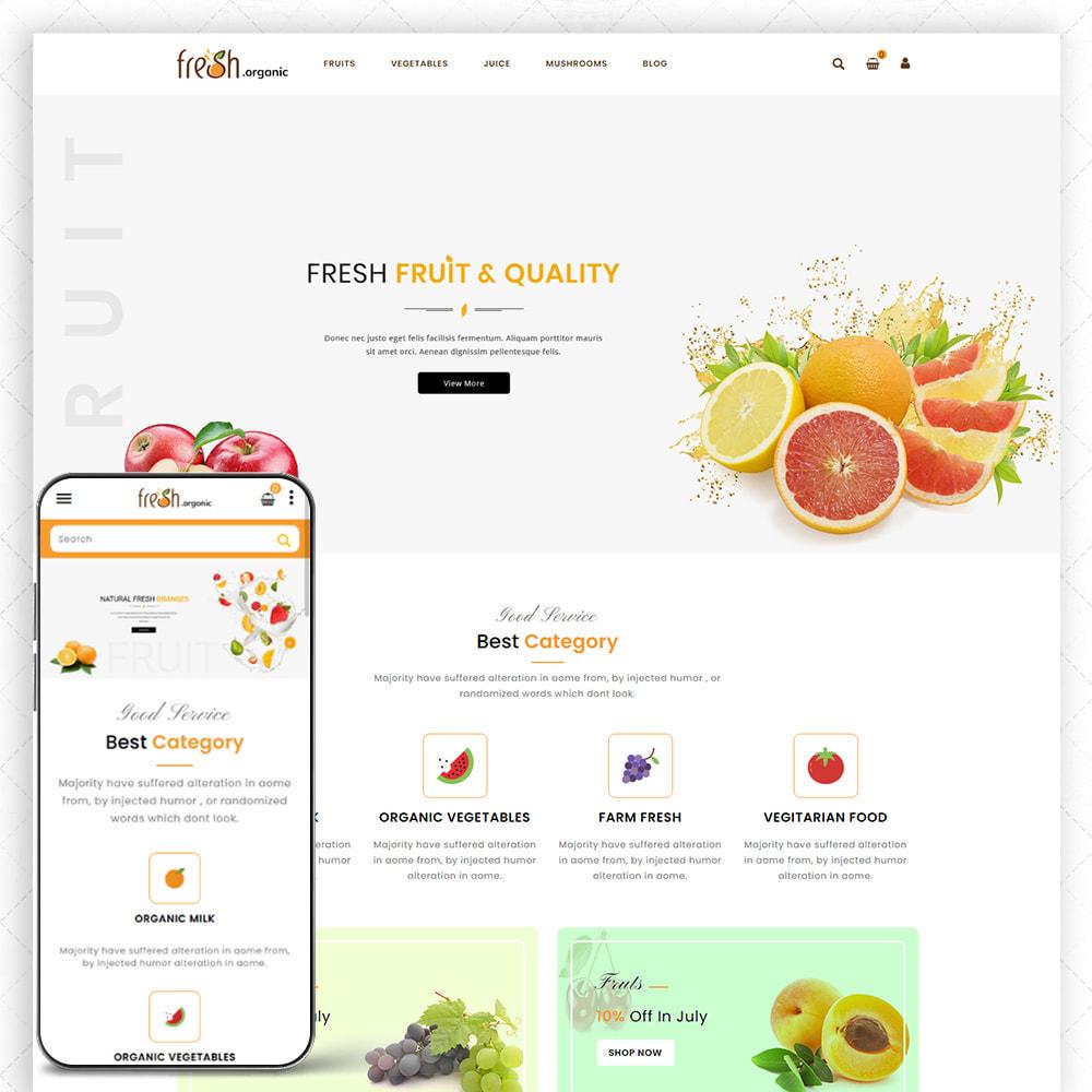 theme - Alimentos & Restaurantes - Organic Fresh - 1