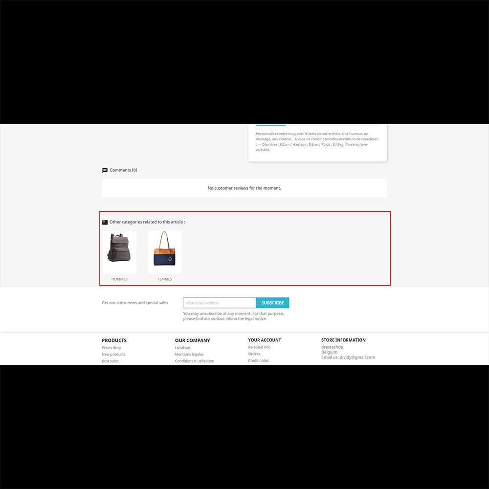 module - Combinations & Product Customization - Product Related Categories - 3