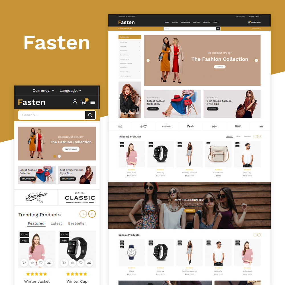 theme - Fashion & Shoes - Fasten - Fashion Responsive Store - 1