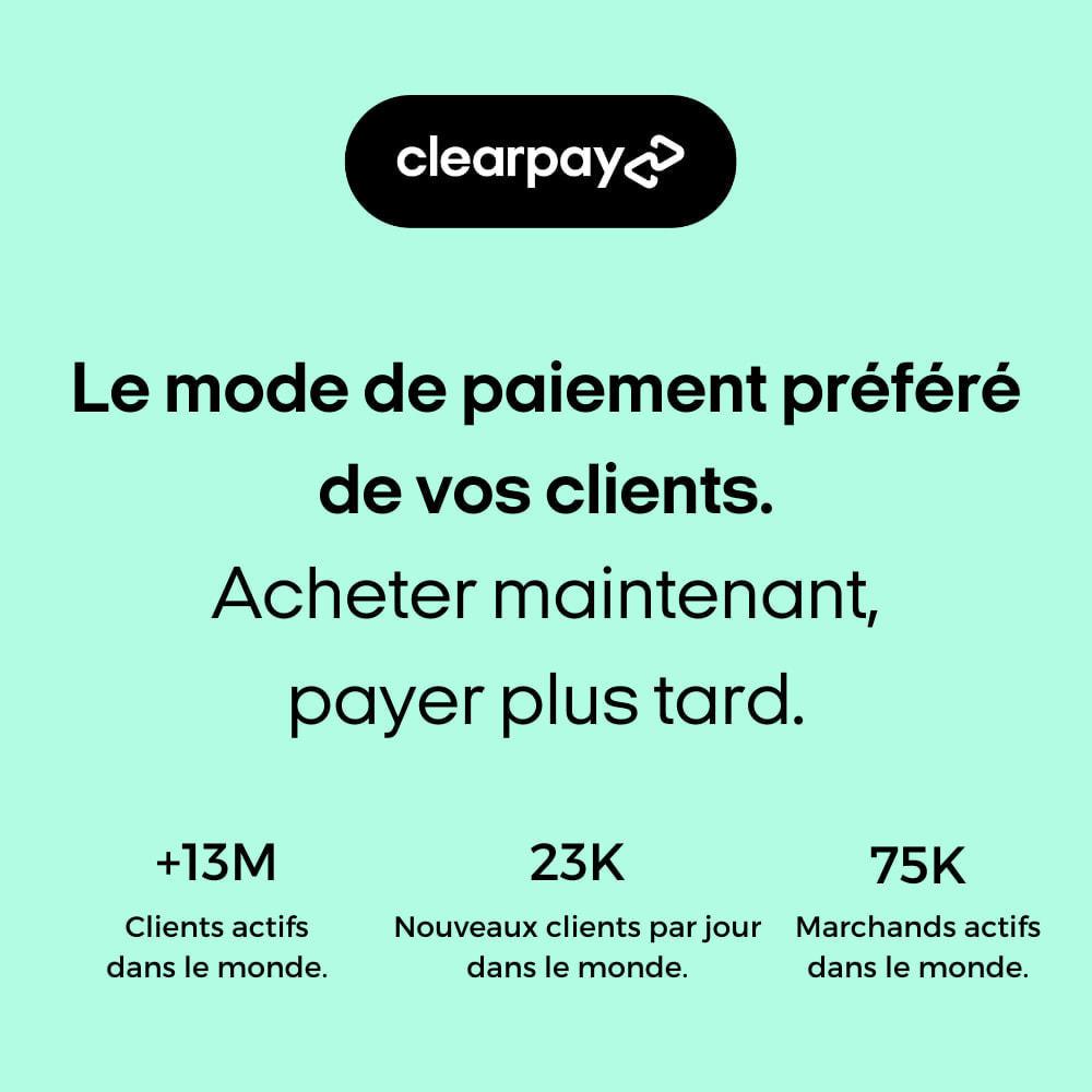 module - Paiement - Clearpay - Achetez maintenant, Payez plus tard, Sans frais - 2