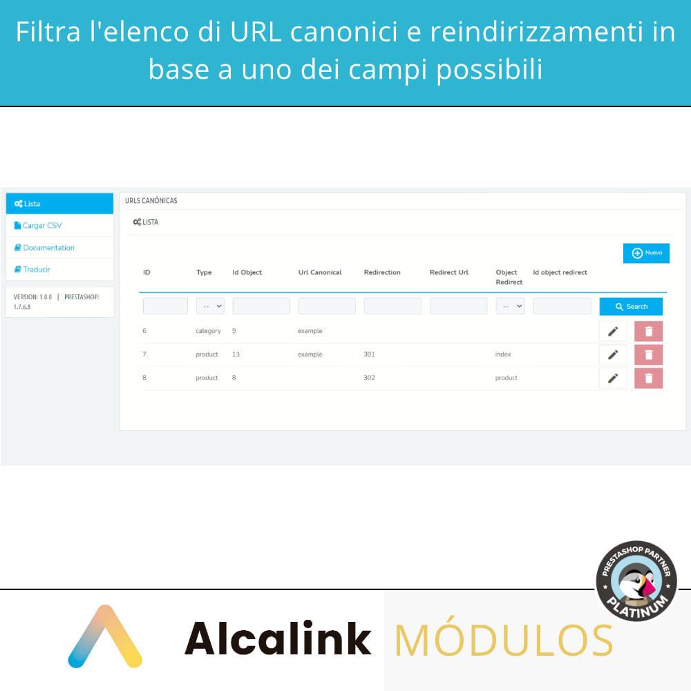 module - URL & Redirect - 2x1: URL canoniche SEO + reindirizzamenti SEO - 3