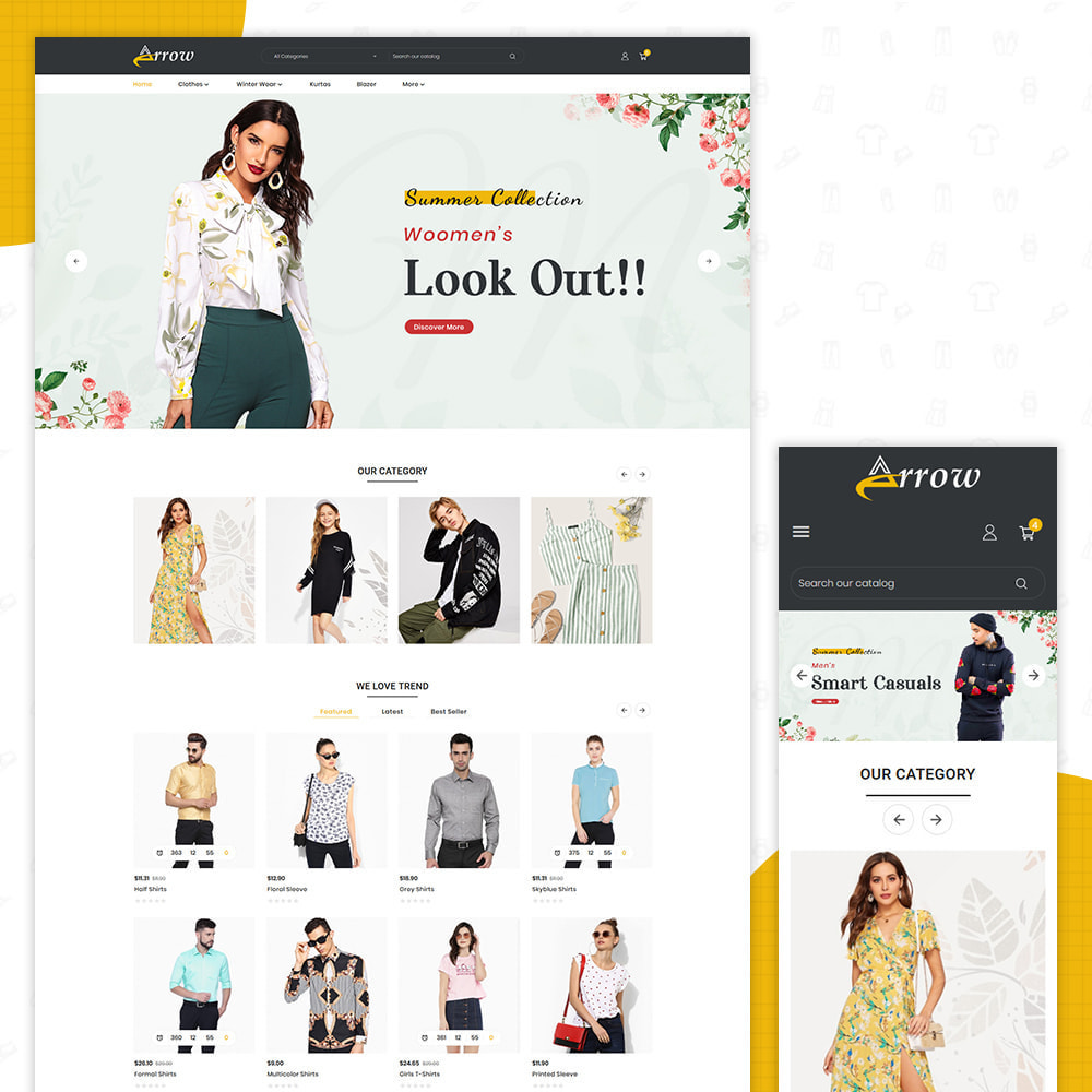 theme - Fashion & Shoes - Arrow–Fashion Store - 1