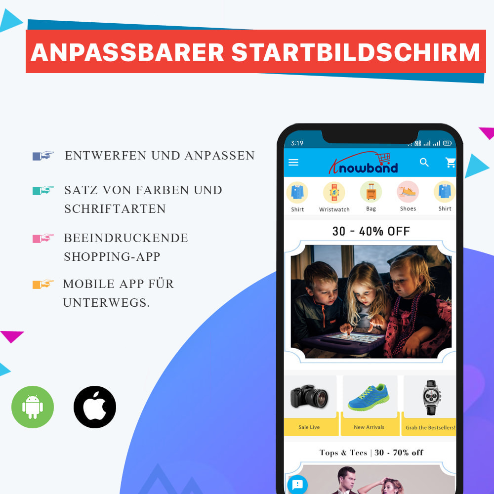 module - Mobile Endgeräte - Knowband - Android und iOS Mobile App Builder - 1