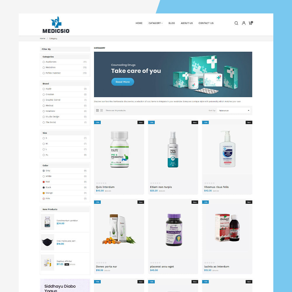 theme - Santé & Beauté - Medicsio - Medicine-Drug-Pharmacy-Medical - 4