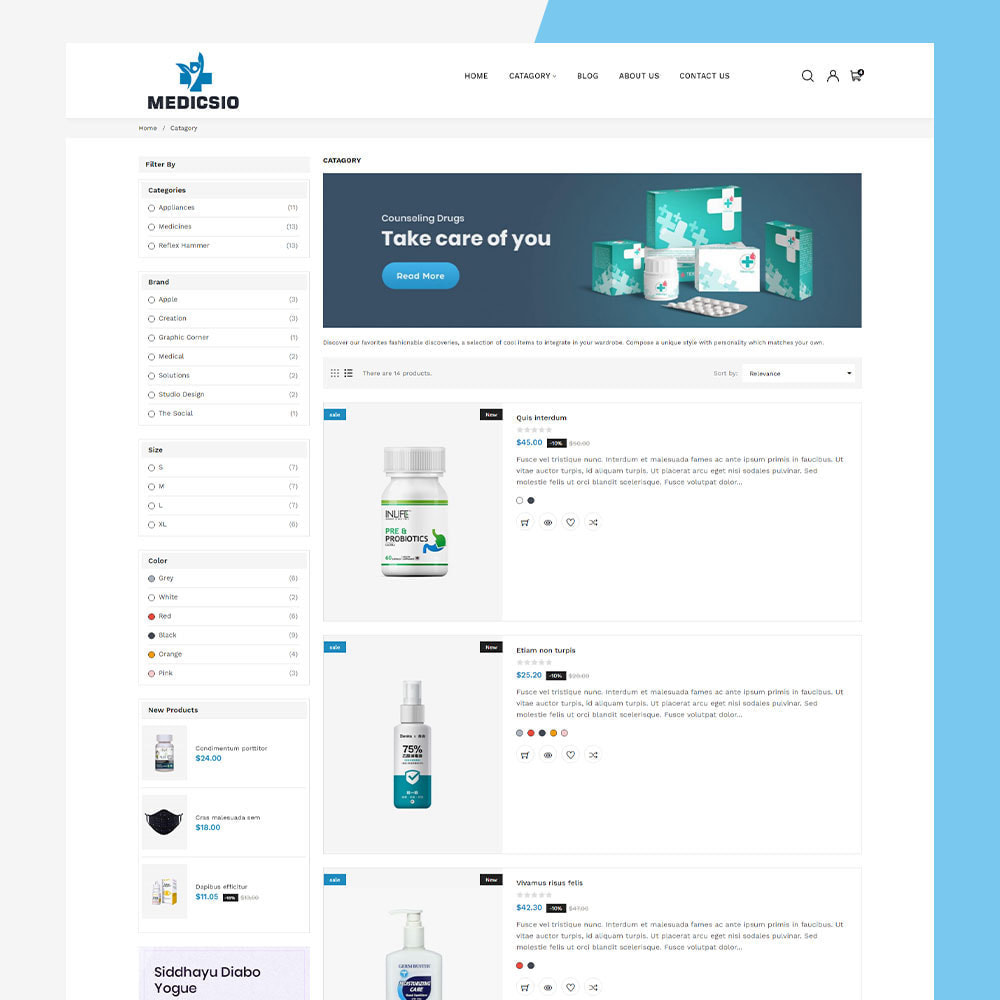 theme - Santé & Beauté - Medicsio - Medicine-Drug-Pharmacy-Medical - 5