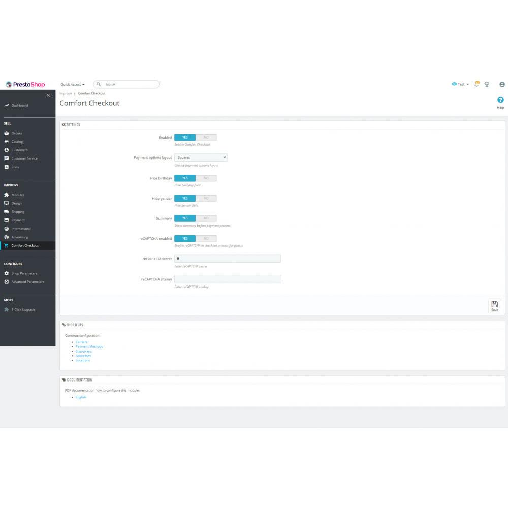 module - Registration & Ordering Process - Comfort Checkout - 7