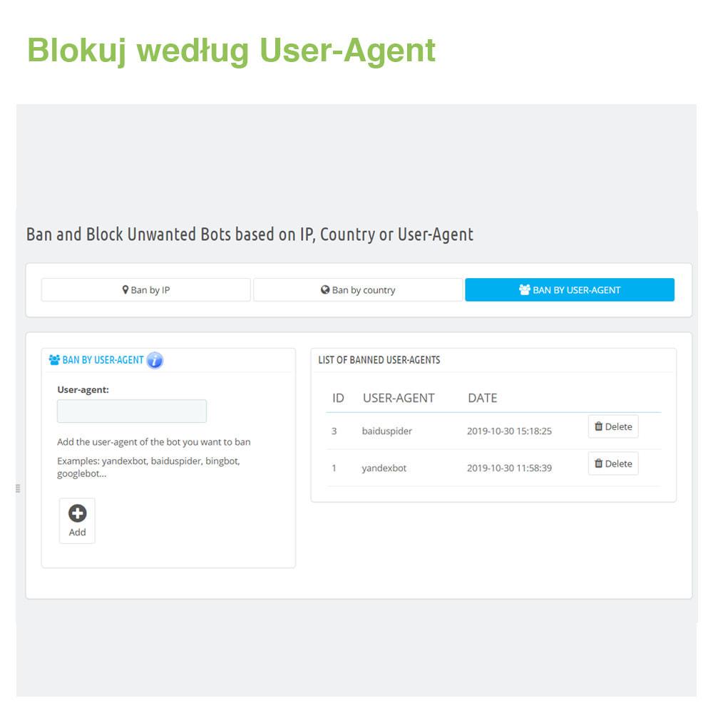 module - Bezpieczeństwa & Dostępu - Block Bots: Blokuj Boty przez IP, Kraj i User-Agent - 4