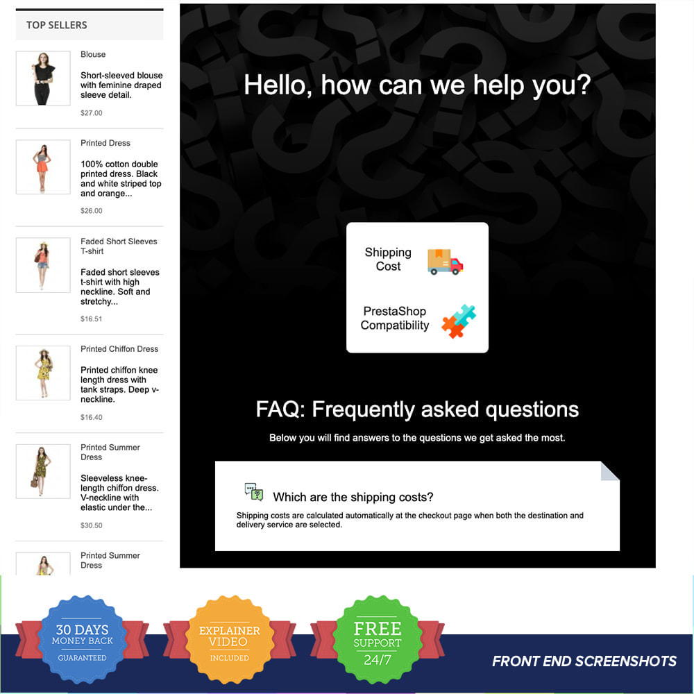 module - FAQ (Frequently Asked Questions) - FAQ - Complete pack for support - 6