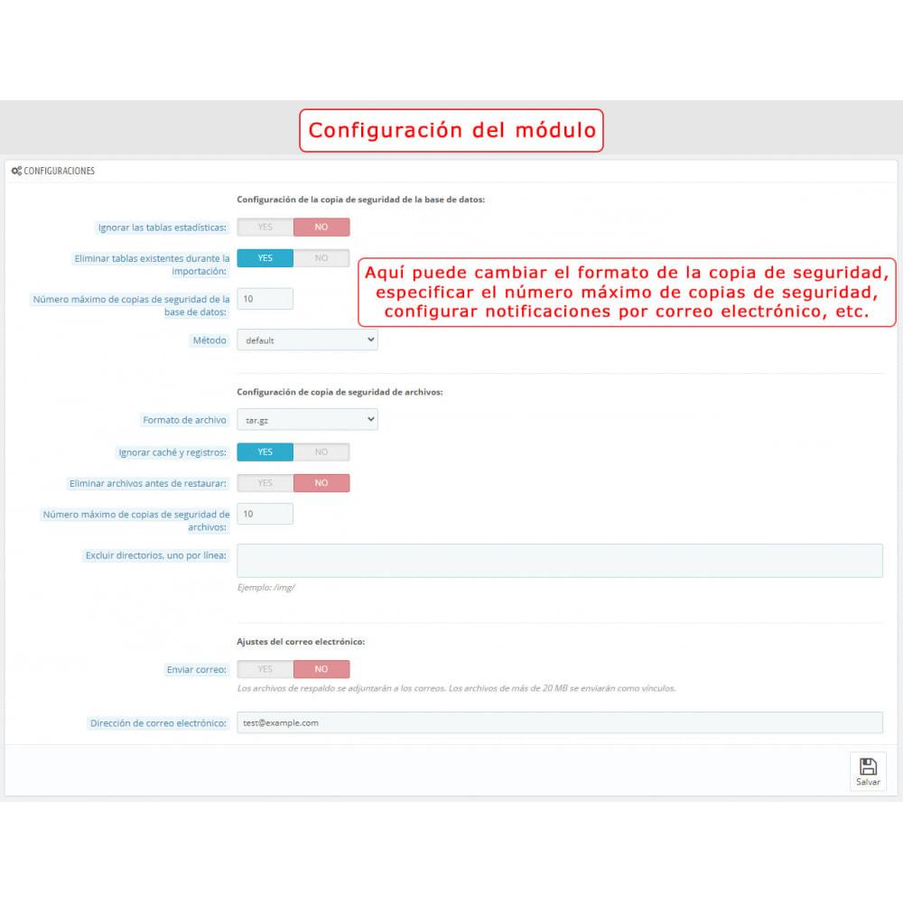 module - Migración y Copias de seguridad - PrestaBackup PRO (+ Google Drive) - 2