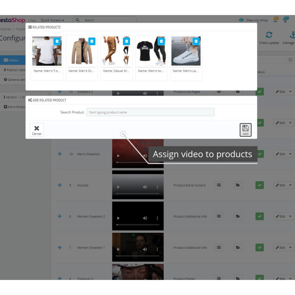 module - Additional Information & Product Tab - Product Videos - Upload Videos for Products - 7