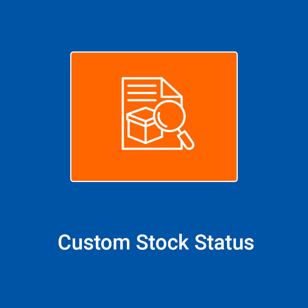 module - Stock & Supplier Management - Custom Stock Status - Add quantity based statuses - 1