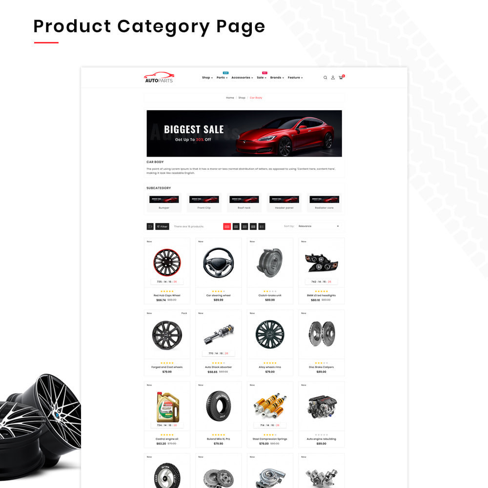theme - Automotive & Cars - Autopart Mega–Cars Spare-AutoPart Super Store - 3