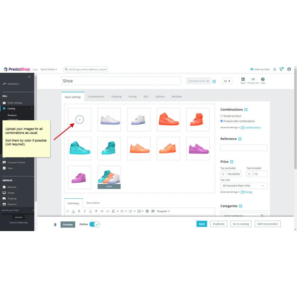 module - Combinaciones y Personalización de productos - Combinaciones de productos con imágenes - 2