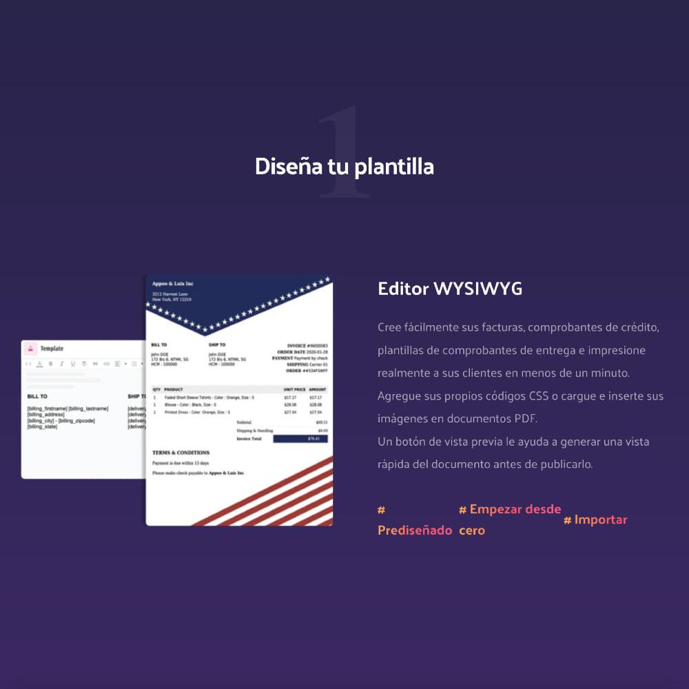 module - Contabilidad y Facturas - DocumenThemix: Plantilla de factura, crédito, entrega - 3