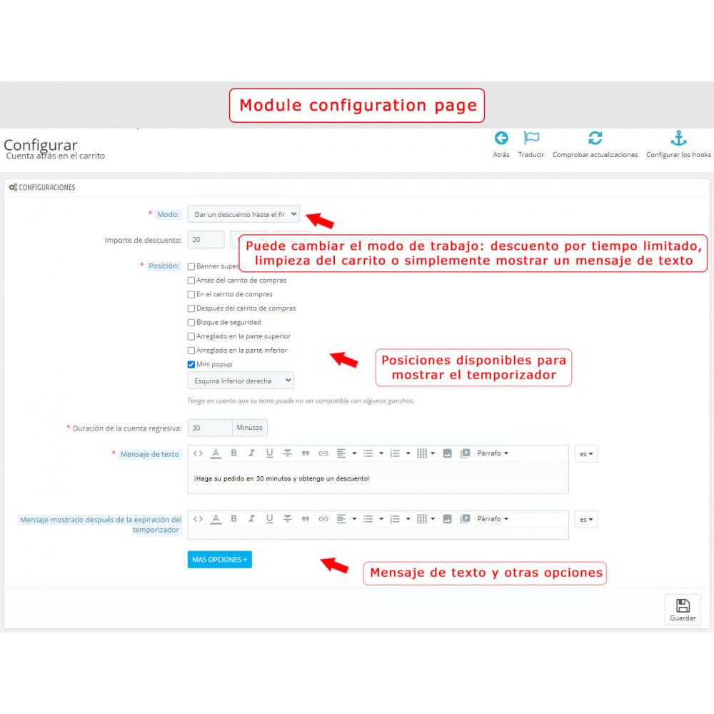 module - Inscripción y Proceso del pedido - Cuenta regresiva en el carrito - 6