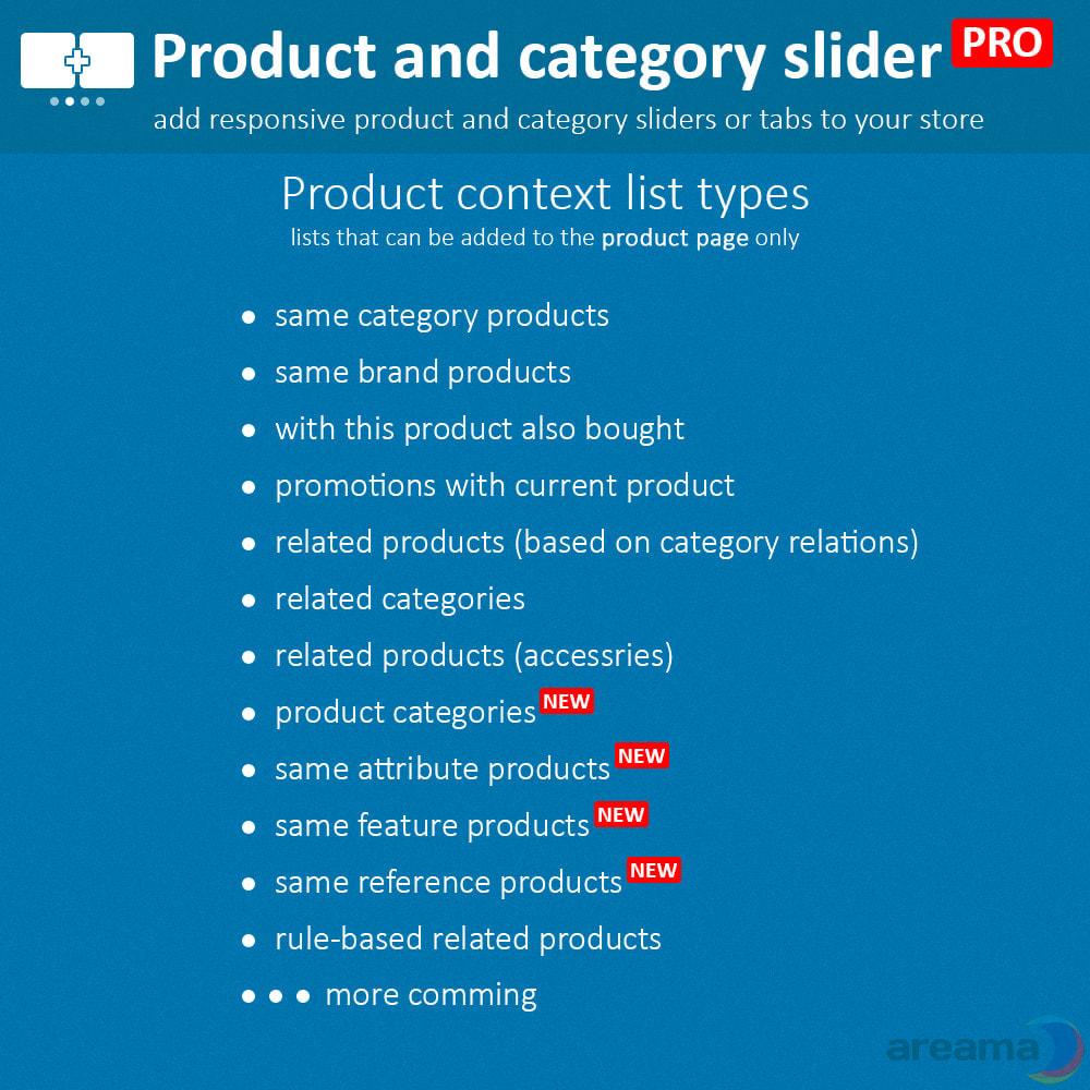 module - Dodatkowe informacje & Zakładka produktu - Product slider PRO + categories + related products - 4