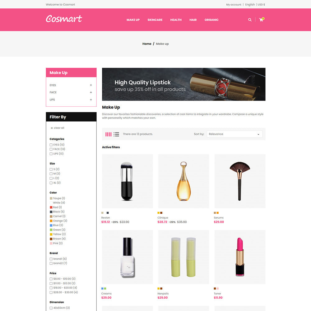 theme - Jewelry & Accessories - Cosmart Makeup Cosmetics - Beauty Gym Store - 3