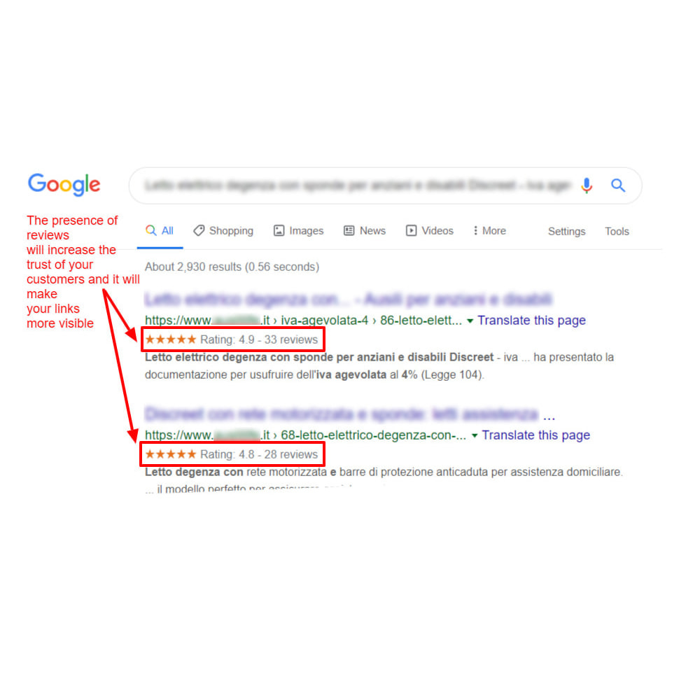module - Customer Reviews - Google Structured Data Snippet for Product reviews - 5