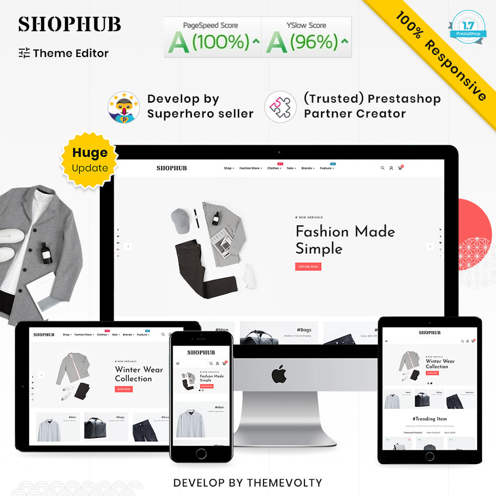 theme - Mode & Schuhe - SHOPHUB Mega Style–Fashion Minimal–Modern Super Store - 1