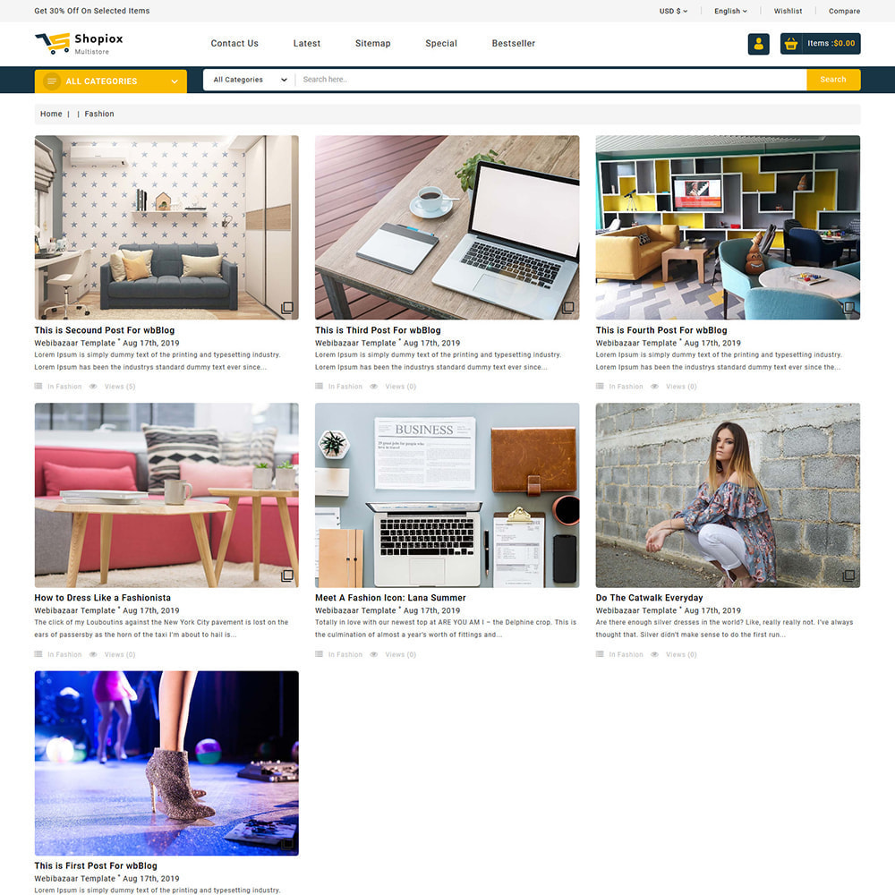 theme - Electronics & Computers - Shopiox - Super Market Multipurpose Store - 6