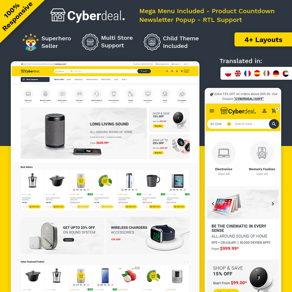 theme - Electronique & High Tech - Cyberdeal - Electronic Super Store - 1