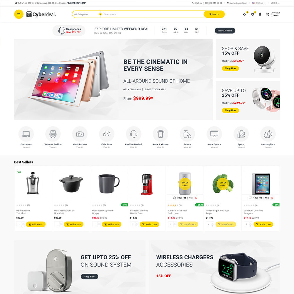 theme - Electronique & High Tech - Cyberdeal - Electronic Super Store - 3