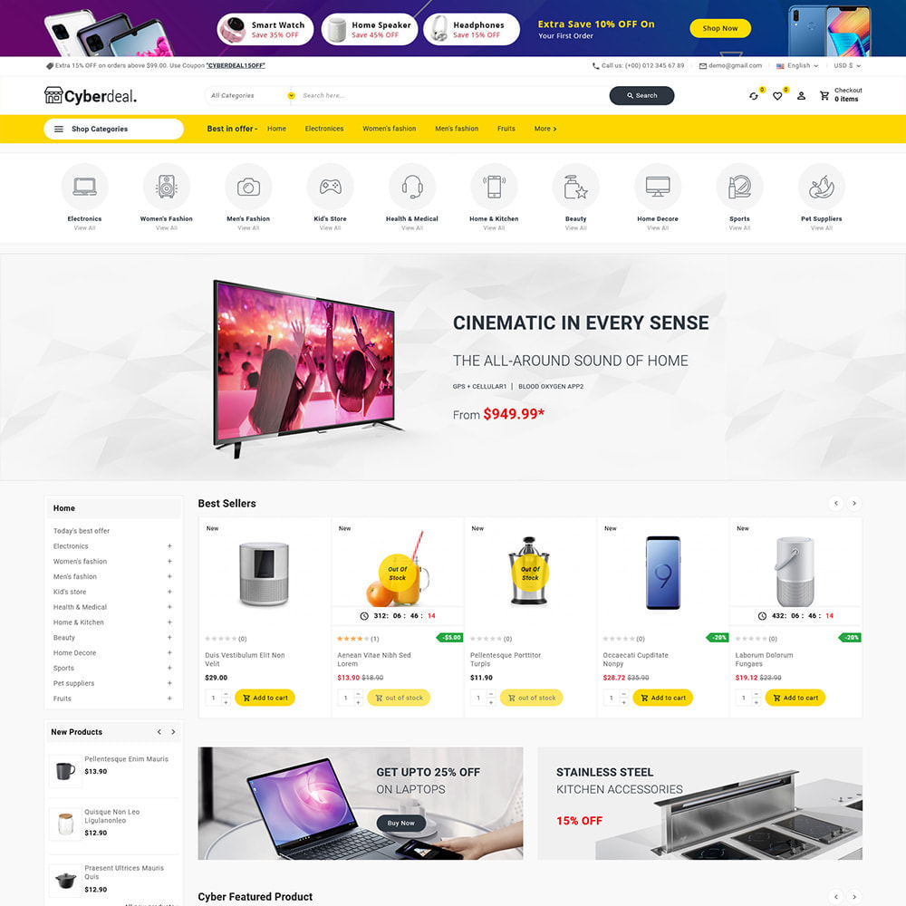 theme - Electronique & High Tech - Cyberdeal - Electronic Super Store - 5