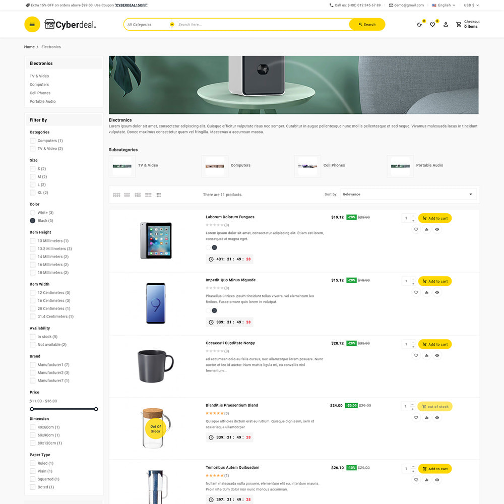 theme - Electronique & High Tech - Cyberdeal - Electronic Super Store - 13