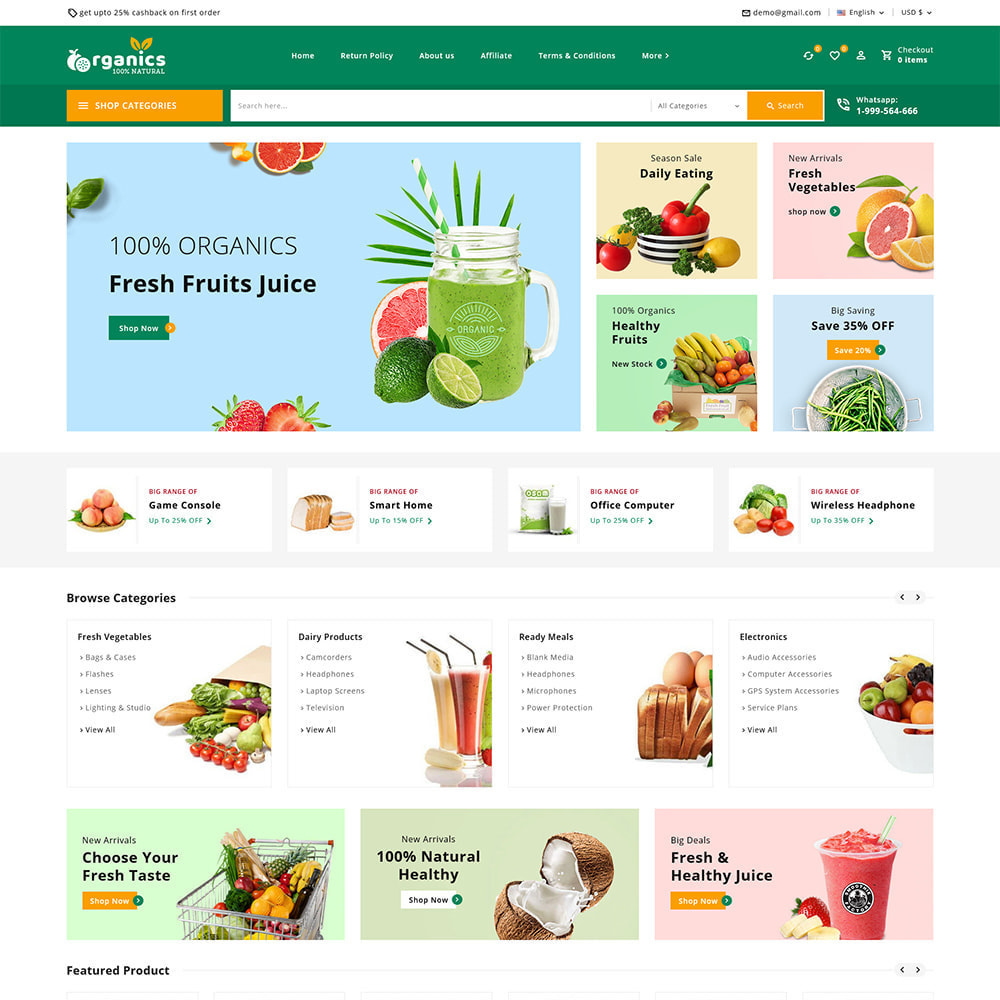 theme - Alimentation & Restauration - Organics - Fresh Food Delivery Store - 2