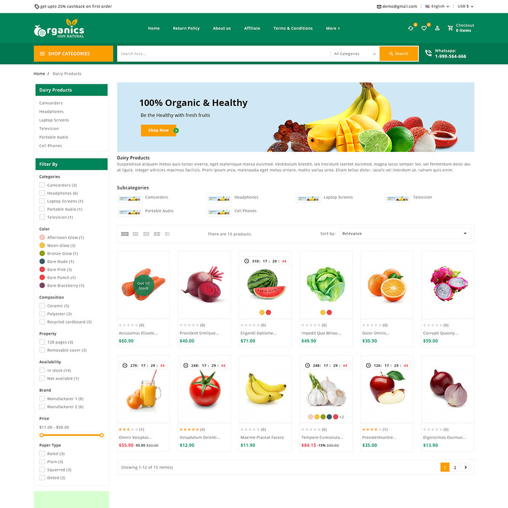 theme - Alimentation & Restauration - Organics - Fresh Food Delivery Store - 5