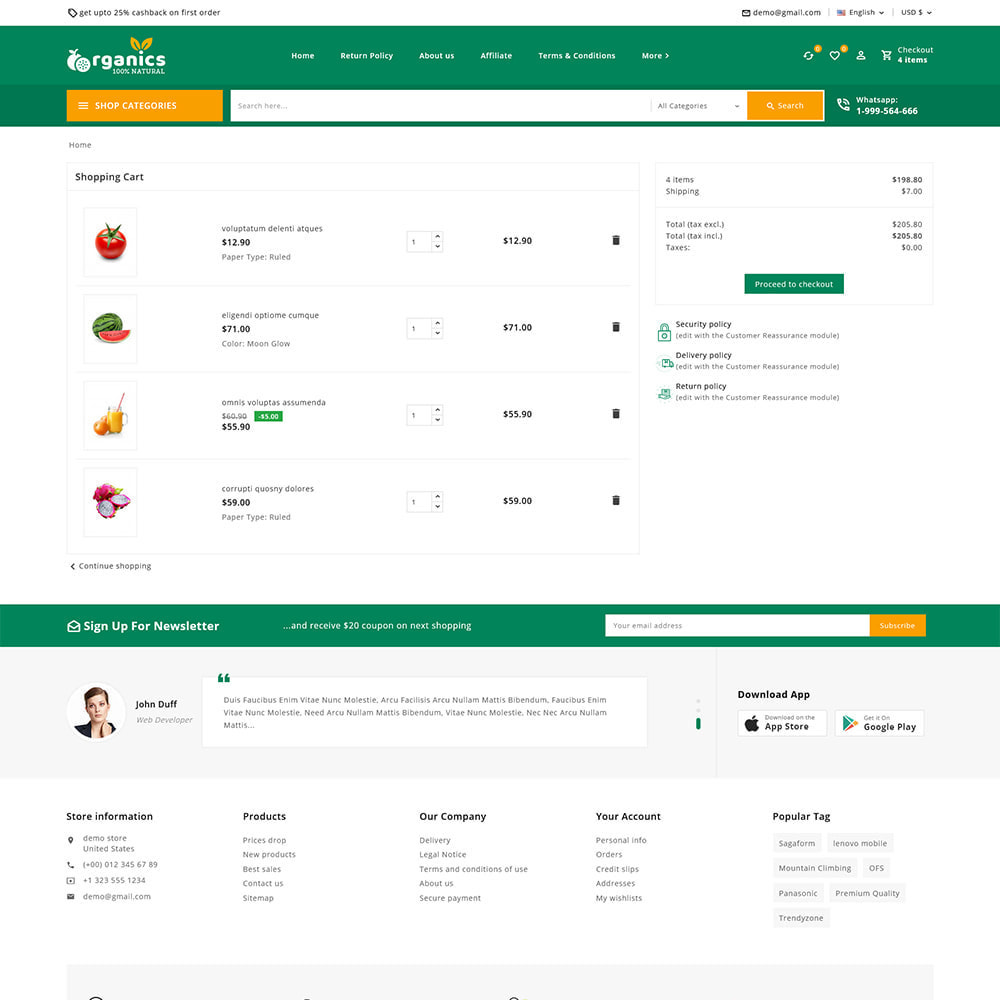 theme - Alimentation & Restauration - Organics - Fresh Food Delivery Store - 12