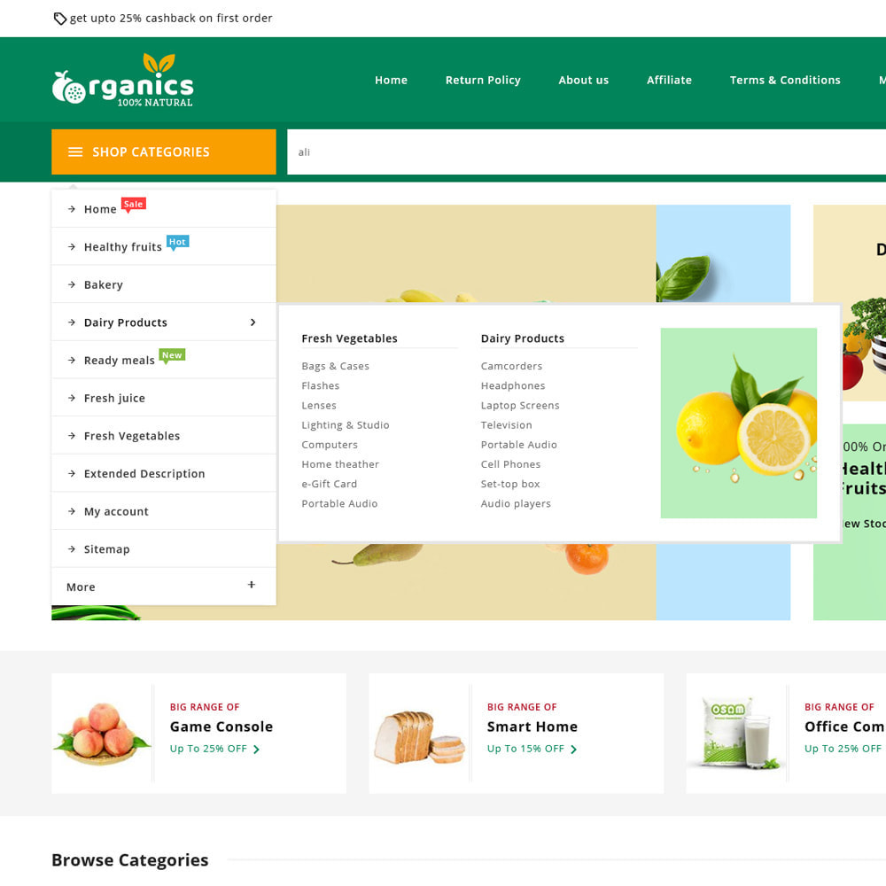 theme - Alimentation & Restauration - Organics - Fresh Food Delivery Store - 17