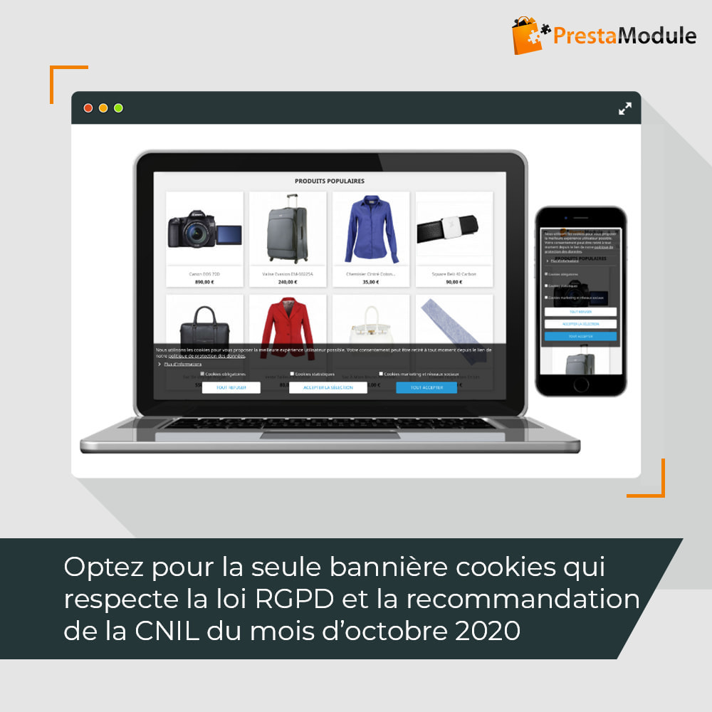 module - Législation - Advanced Cookie Banner: Loi-cookies mars 2021 CNIL RGPD - 1