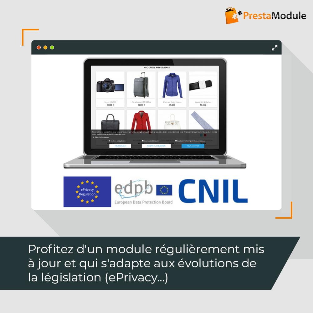 module - Législation - Advanced Cookie Banner: Loi-cookies mars 2021 CNIL RGPD - 6