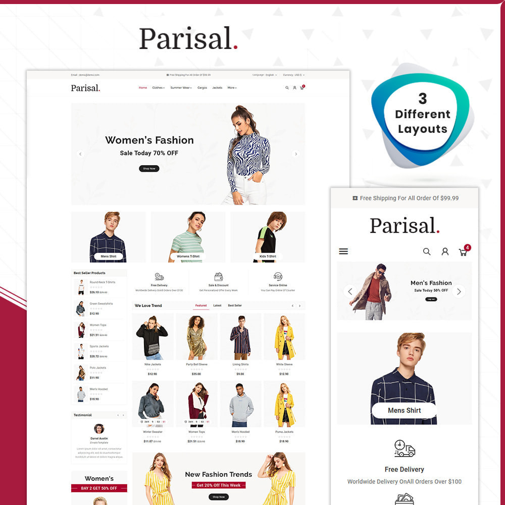 theme - Mode & Chaussures - Parisal Fashion– The Big Store - 1