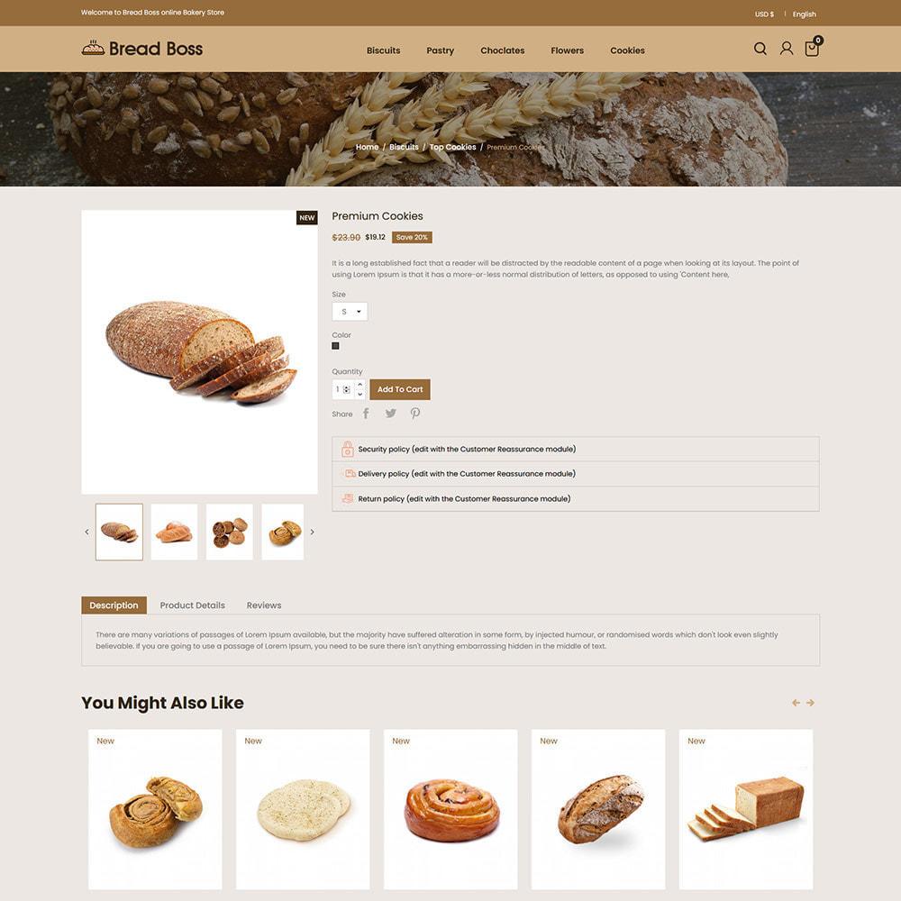 theme - Food & Restaurant - Breadboss Food - Bread Loaf Burger Pizza  Store - 5